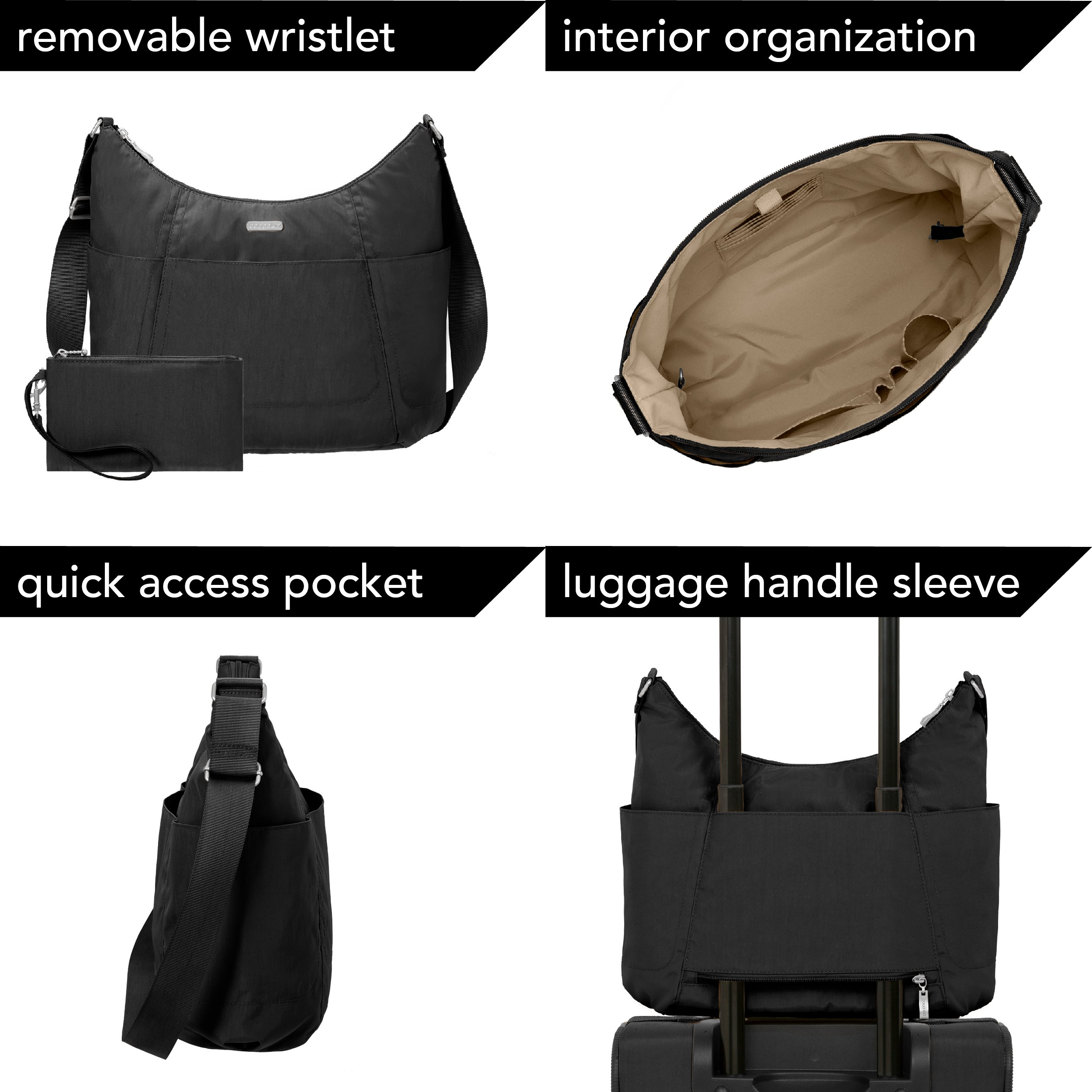 Baggallini Hobo Travel Tote, Black, One Size by Baggallini (Image #1)