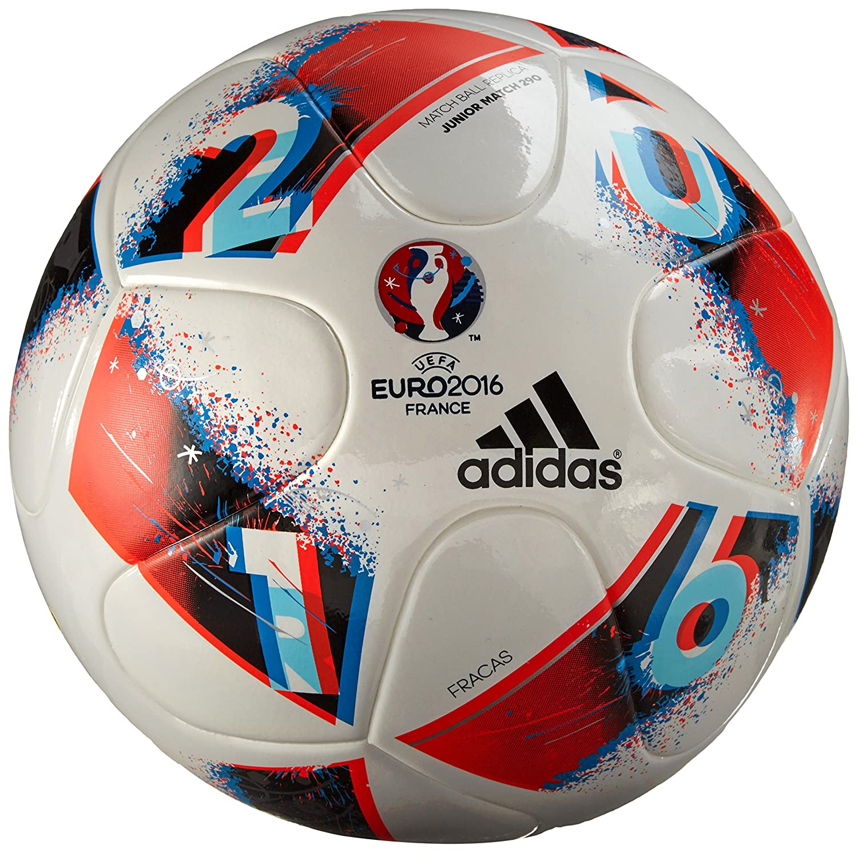 adidas Euro16 J290 Balón de fútbol, Hombre, (Blanco/Azubri/Rojsol ...