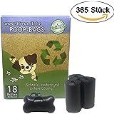 365 Premium Hundekotbeutel / Poop Bags mit Spender | biologisch abbaubar, umweltfreundlich, extra stark, geruchsneutral und tropfsicher