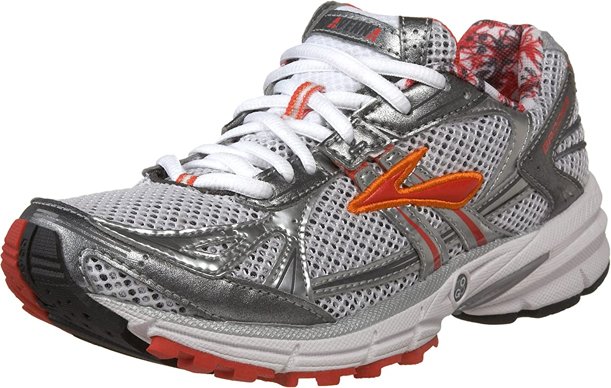 Brooks 1200581B804, Zapatillas de Running para Mujer, Silber (White/Silver/Red/Orange), 41.5 EU: Amazon.es: Zapatos y complementos