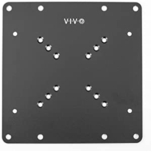 VIVO Steel VESA TV and Monitor Mount Adapter Plate Bracket for Screens 23 to 42 inches | Conversion Kit for VESA up to 200x200mm (MOUNT-AD2X2)