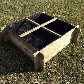 Hochbeet 100 X 100 X 30 Holz Stecksystem Krauterbeet Komposter