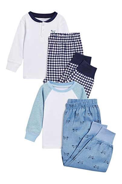 next Niños Pack De Dos Pijamas Tejidos De Cuadros (9 Meses - 8 Años)
