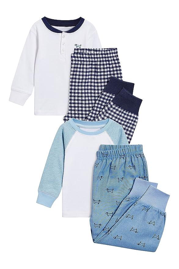 next Niños Pack De Dos Pijamas Tejidos De Cuadros (9 Meses - 8 Años): Amazon.es: Ropa y accesorios