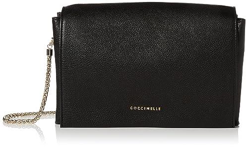 624c70cf41f0a6 Coccinelle Elise - Borse a spalla Donna, Black (Noir), 4x17.5x25 cm ...