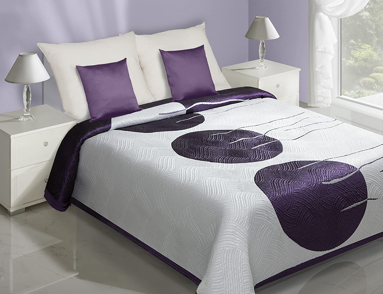 couvre lit en promotion Eurofirany CHON/RITA/B+FIOL/220 Couvre lit 220 x 240 cm, double  couvre lit en promotion