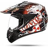 805GS War Black Casque avec visière pour moto cross, quad ATV Enduro ECE 2205Taille: S à XL