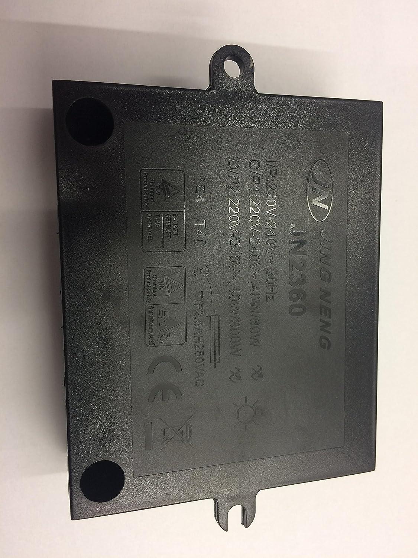 /60/W//230/V 40/ /300/W Jing neng jn2360 Hal/ógeno regulador 2/compartimento 230/V 40/