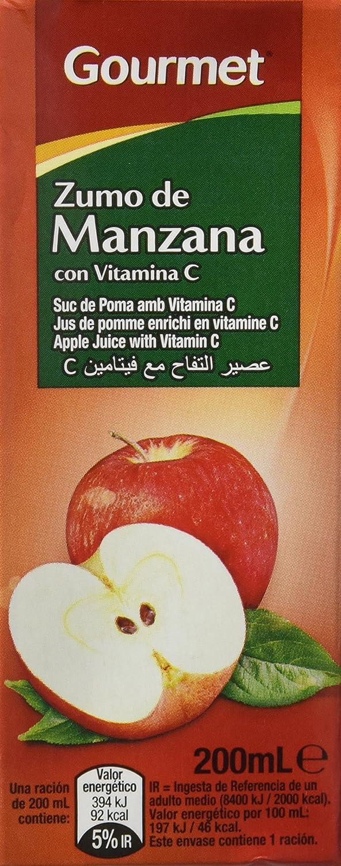 Gourmet - Zumo de manzana - 3 x 200 ml - [Pack de 10]: Amazon.es: Alimentación y bebidas