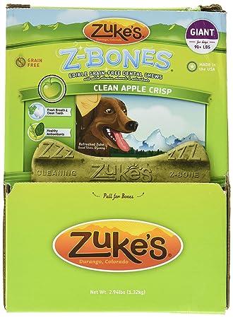 Zuke S Performance Pet Nutrition 134096 12 Count Z-Bone Giant Apple Crisp Display Box, Large