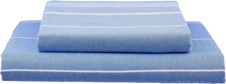 59 x 92 x 0.5 cm Night Blue algod/ón Cacala Pure Serie Turco Toallas de Mano de