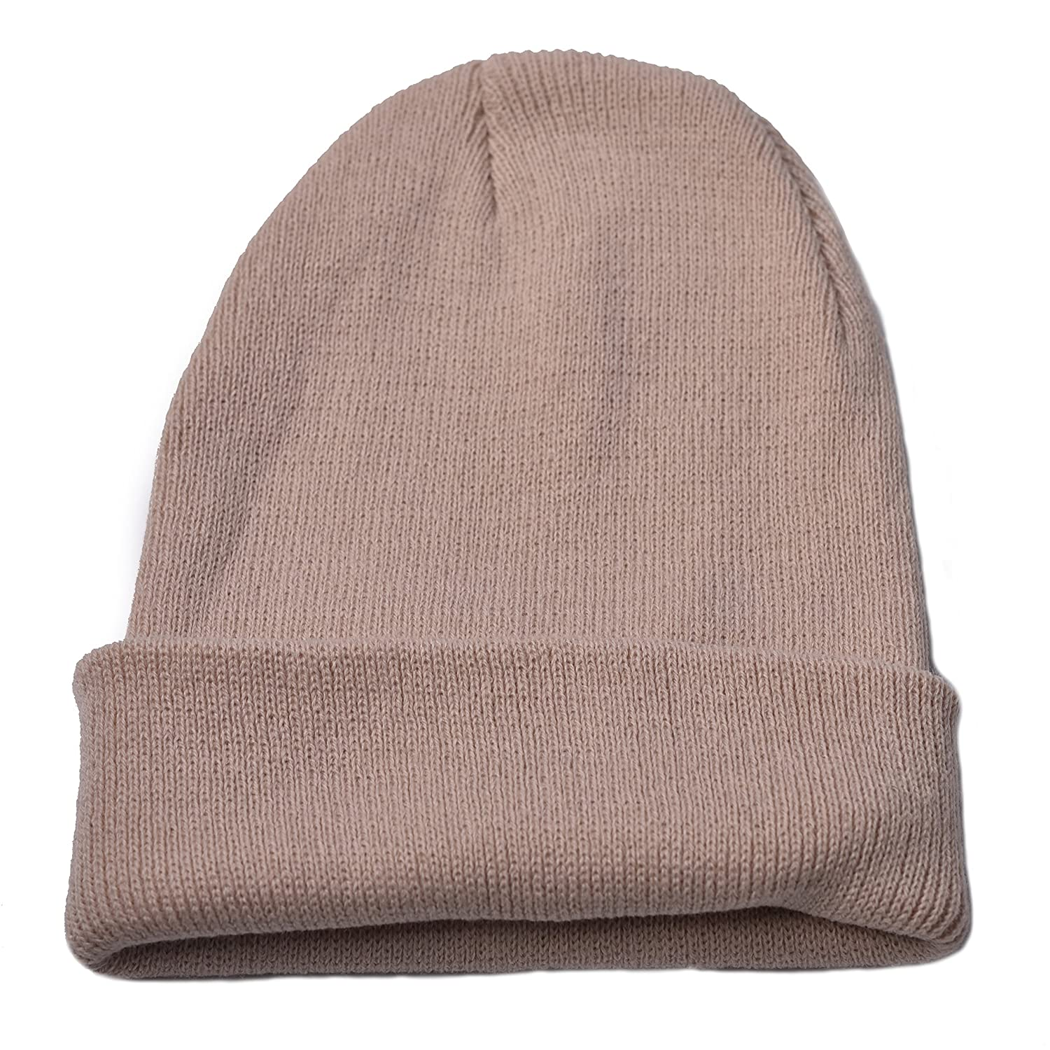 Woogwin Beanie Cap Winter Hats for Men Women Knitted Warm Hat Solid Color (Blue) WH161108002CWG19