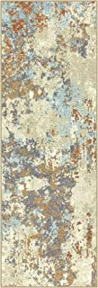 product image for Maples Rugs Southwestern Stone Distressed Abstract Non Slip Runner Rug For Hallway Entry Way Floor Carpet [Made in USA], 2 x 6, Multi