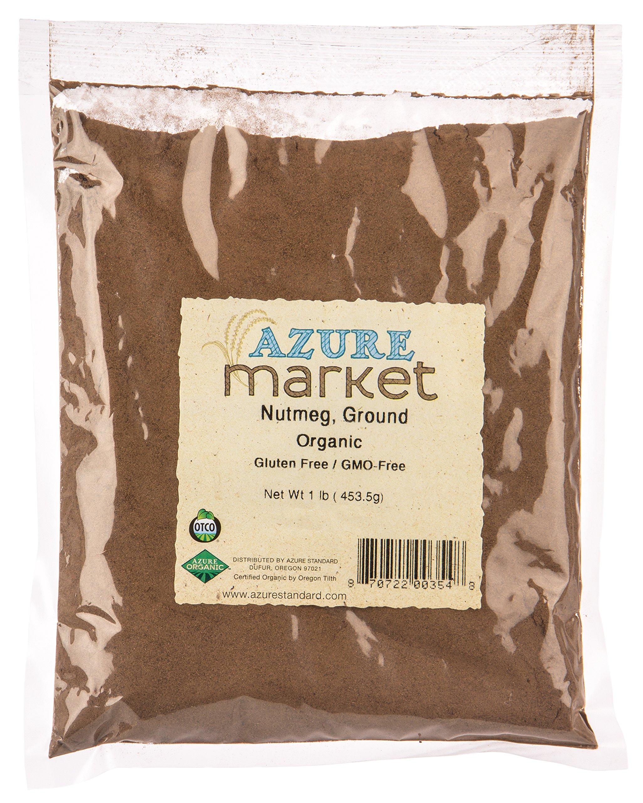 Azure Market Organics Nutmeg, Ground, Organic - 1 lb