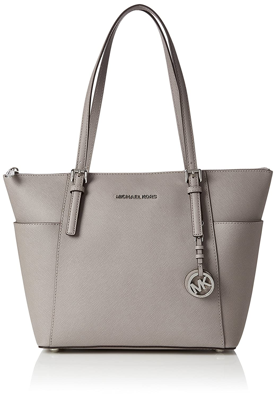 Michael Kors Womens Jet Set Item Top-Handle Bag Grey (Pearl Grey)   Amazon.co.uk  Shoes   Bags 59d54ea8d6ece