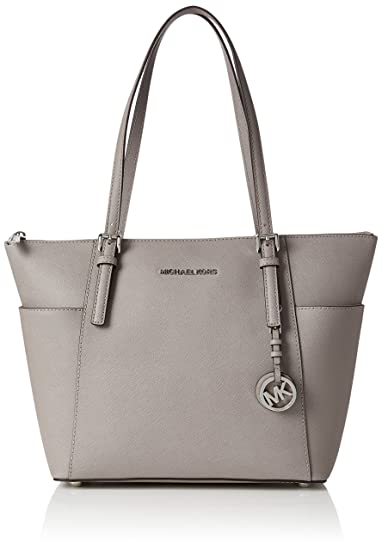 b5662e159fcba5 Michael Kors Womens Jet Set Item Top-Handle Bag Grey (Pearl Grey ...