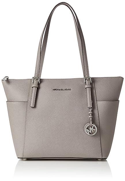 68463d35be86a1 ... uk michael kors womens jet set item top handle bag grey pearl grey  73a91 fd758