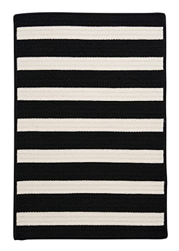 Stripe It Rug, 3 by 5-Feet, Black White