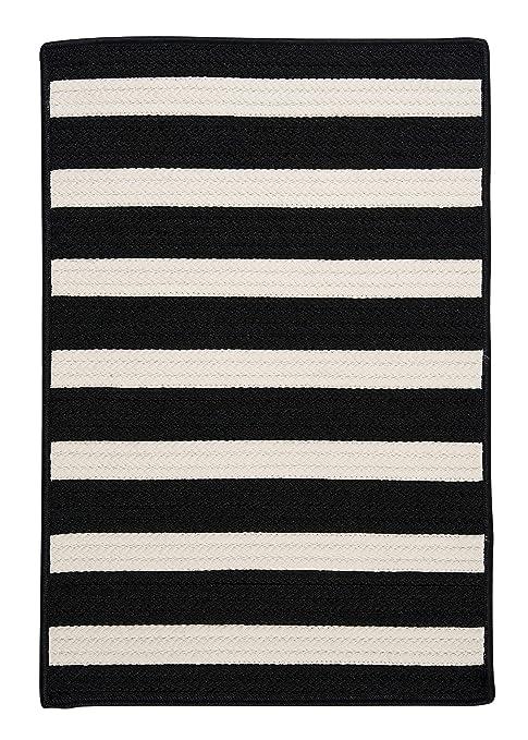 Amazoncom Stripe It Sample Swatch Rug Black White Kitchen Dining