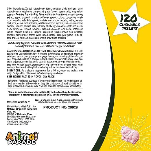 Amazon.com: Natures Plus Animal Parade Oro Niños Multi ...
