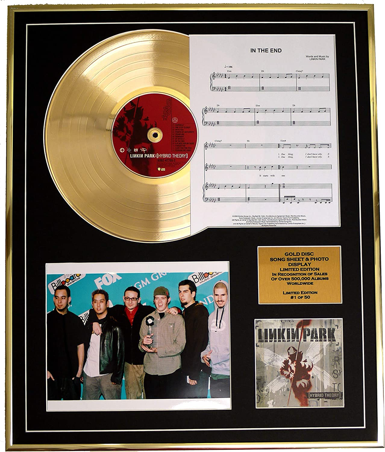 LINKIN PARK//CADRE CD//EDITION LIMITEE//CERTIFICAT DAUTHENTICITE//HYBRID THEORY