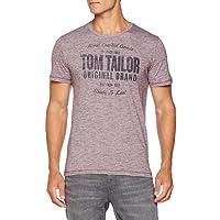 TOM TAILOR Basic Rundhals Mit Slogan, T-Shirt Homme