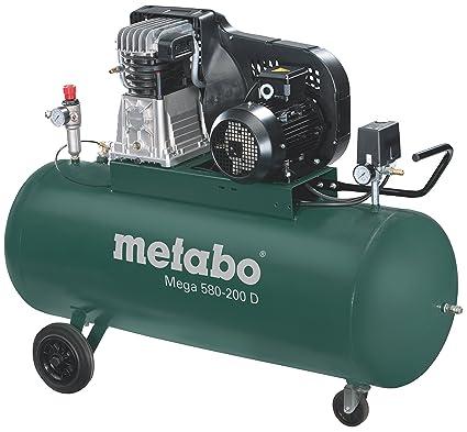 Metabo Mega 580-200 D - compresor 3 CV 50 litros correa trifásico