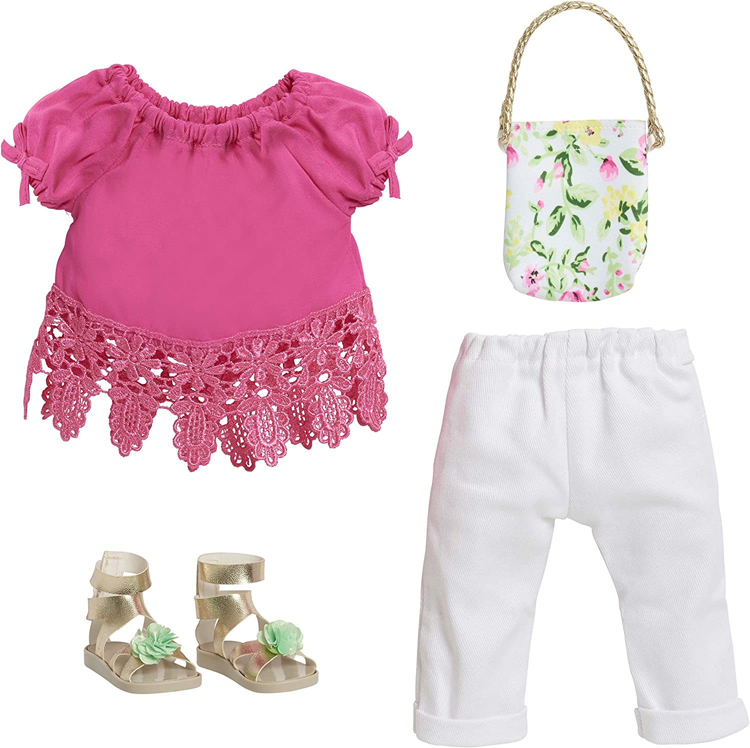 Journey Girls 18 Doll Fashion Set Pink Top /& White Jeans Exclusive