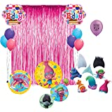 Trolls Birthday Party Photo Booth Props Balloons Decoration Kit