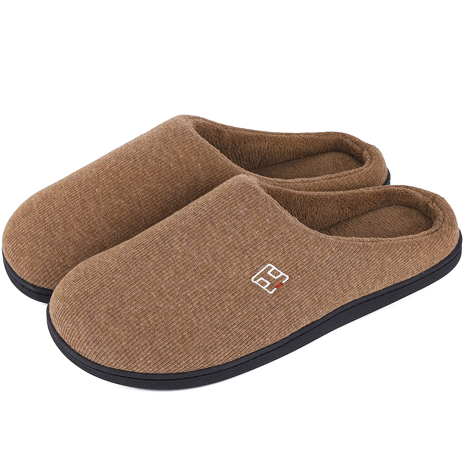 09732ae38 Men s   Ladies  Classic Memory Foam Plush House Slippers