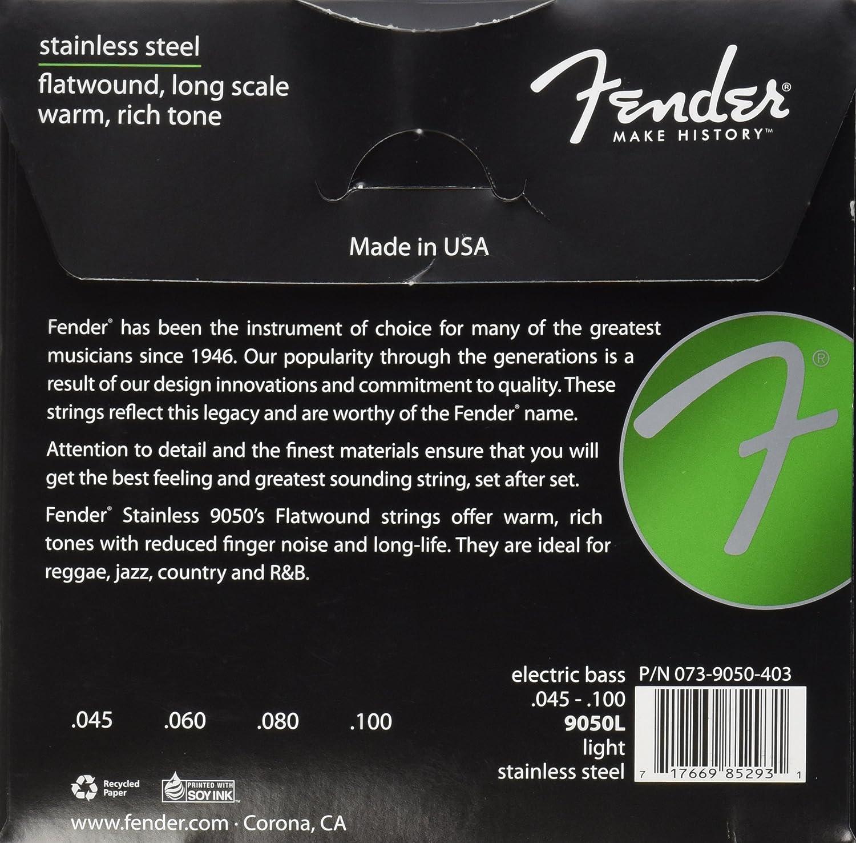 Nickel Plated Steel Roundwound Fender Short Scale Bass 5250XL 40-95
