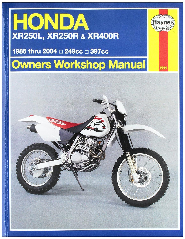 amazoncom 96 03 honda xr400r haynes repair manual automotive