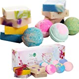 360Feel Forever Love- 6 Bath Bombs Plus 4 Handmade Soap Gift Set- Romantic Gifts- Valentines day gifts- Essential Oil-Organic