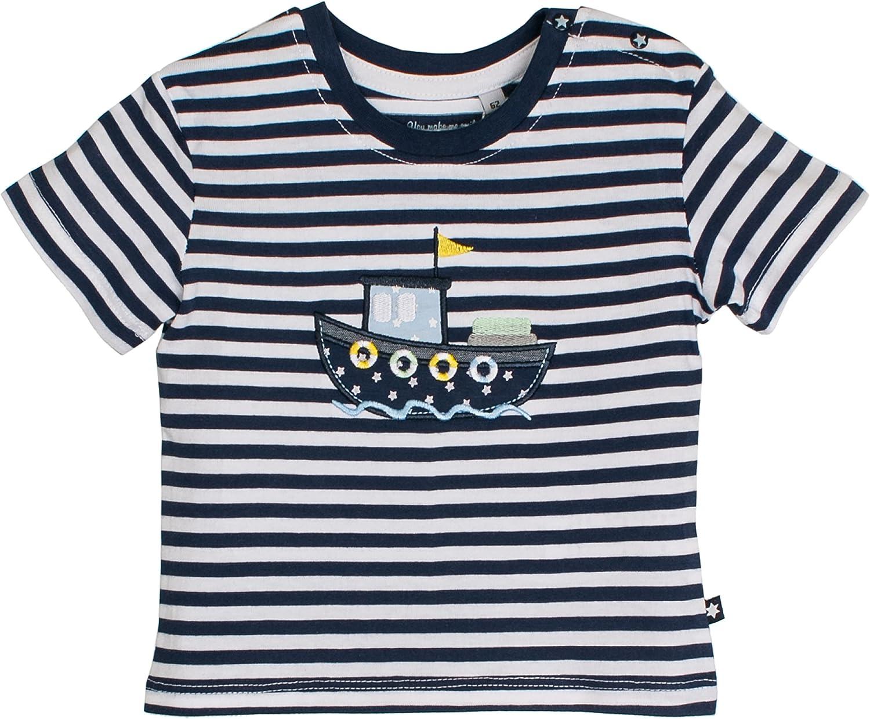 SALT AND PEPPER Baby-Jungen Nb Ready Stripe T-Shirt