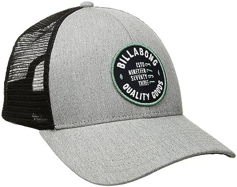 online store f498c 61b92 Billabong Mens Walled Trucker Hat Baseball Cap - Gray -  Amazon.co.uk   Clothing