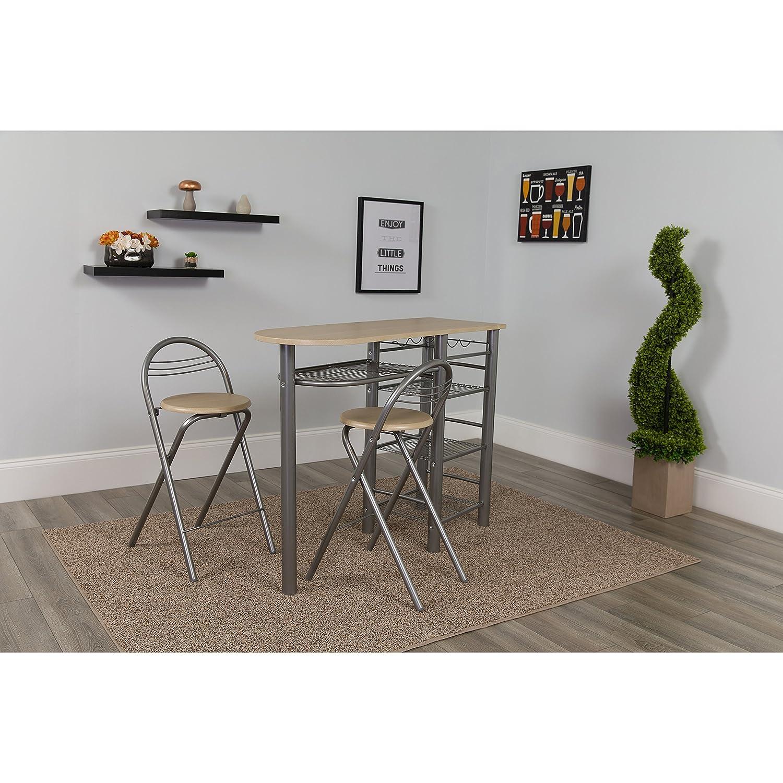 Amazoncom Flash Furniture Carnegie 3 Piece Space Saver Natural