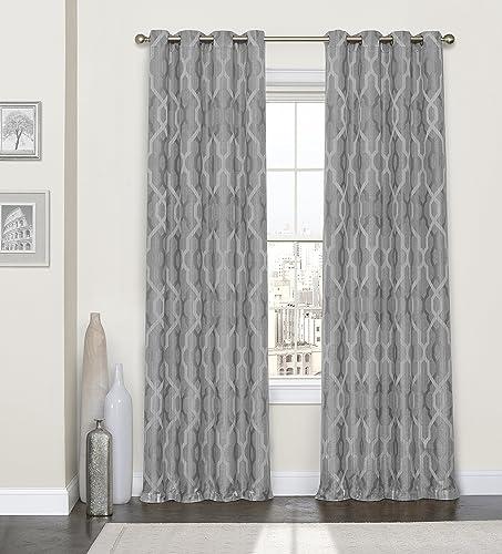 Eclipse Sabino Window Curtain, 52x95, Smoke