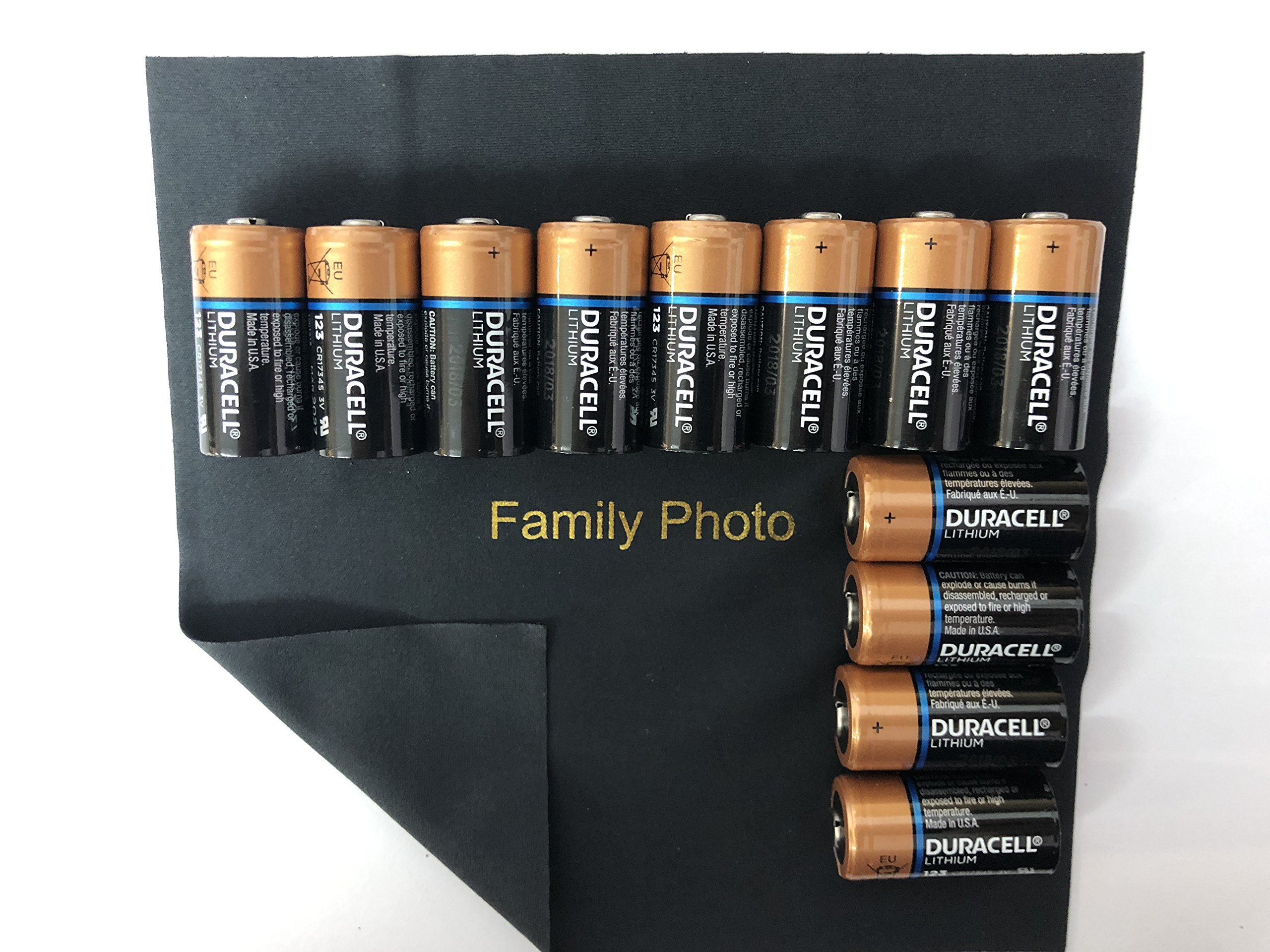 Duracell Ultra Lithium 3V CR123 Leak Resistant Long Lasting Batteries with Family Photo Micro Fiber Cloth (12)