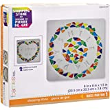 Darice Stepping Stone Kit: Square, 8 Inches, 7 Pieces, Makes 1, Multicolor