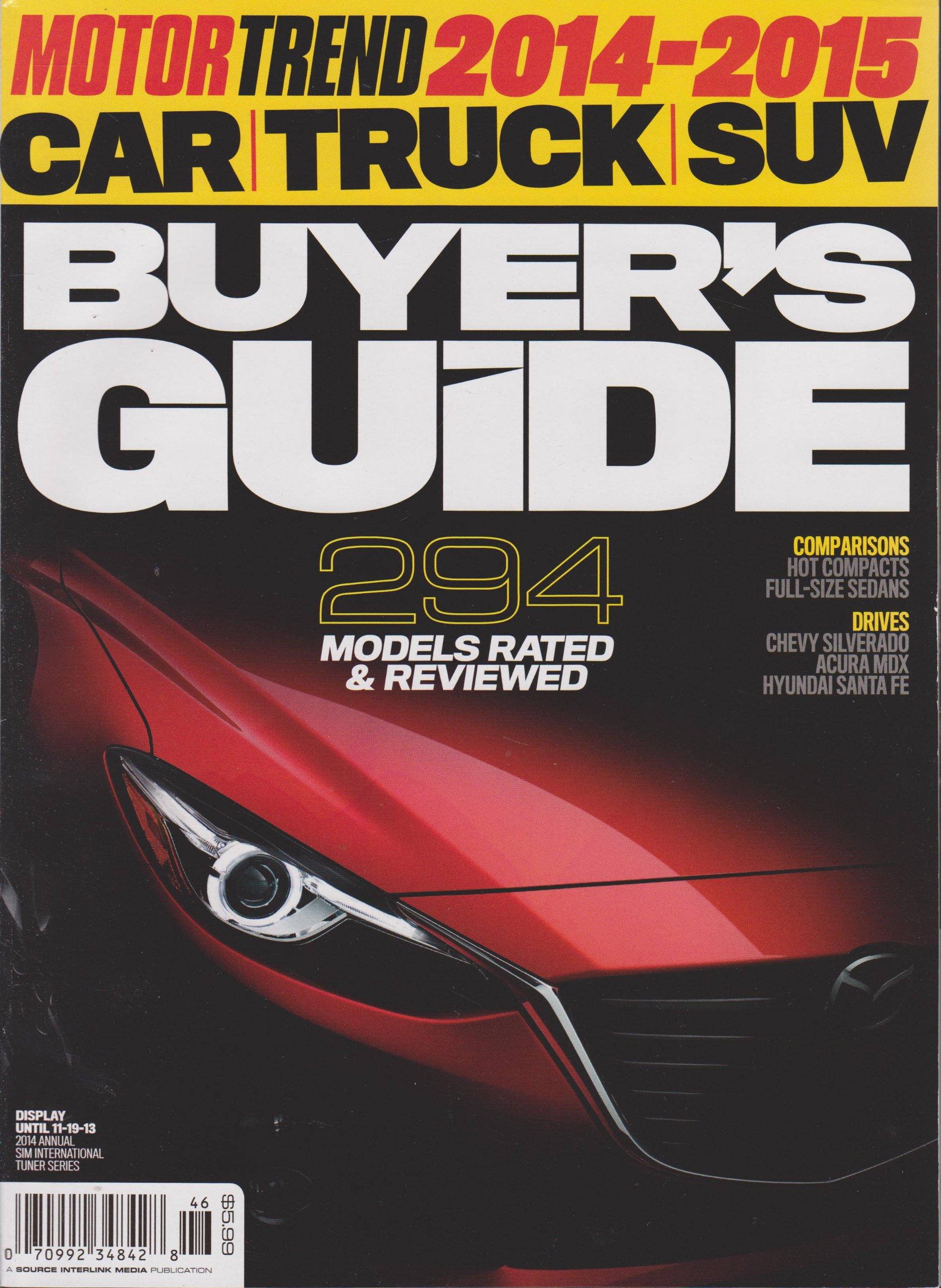 Motor Trend 2014 2015 Car Truck Suv Buyer S Guide Magazine Cover 2 Amazon Com Books