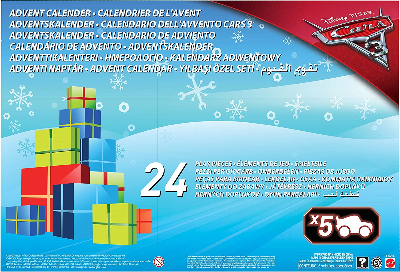 Cars 3- Calendario de Adviento (Mattel FGV14): Amazon.es: Juguetes ...
