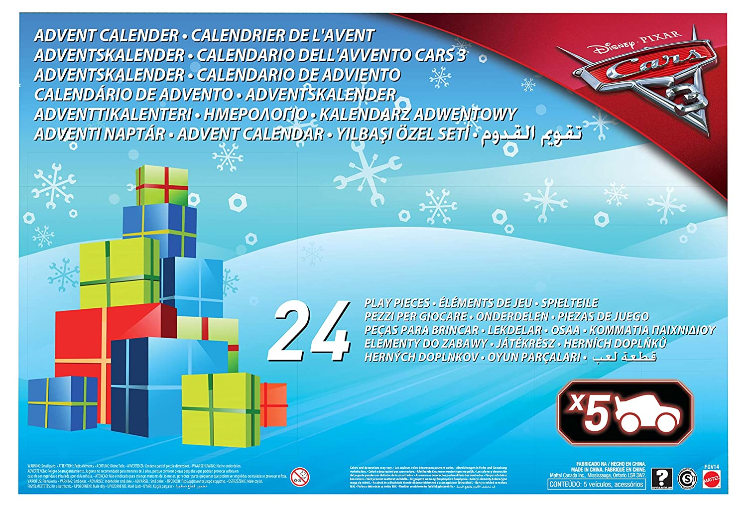 color fitness naptár Disney Cars FGV14 Cars 3 Advent Calendar: Amazon.co.uk: Toys & Games color fitness naptár