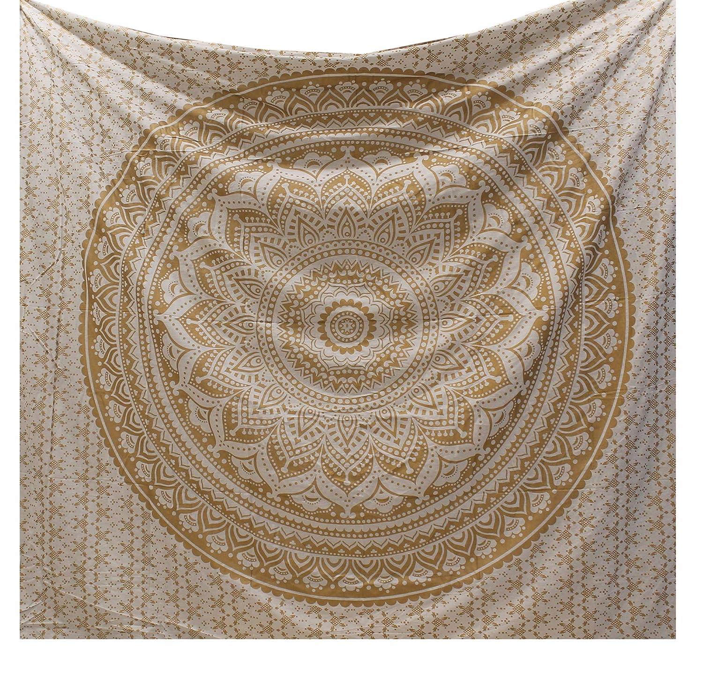 Esclusivo copriletto Golden ombre Tapestry by Raajsee biancheria da letto, motivo: Mandala, regina, multi colori indiana, Wall Art hippie, Wall Hanging Bohemian. J.p.fashions gld