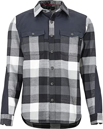 Marmot Needle Peak Mid WT Flannel LS Camisa para Exteriores De Manga Larga, Camisa De Senderismo, con Protección UV, Transpirable Hombre
