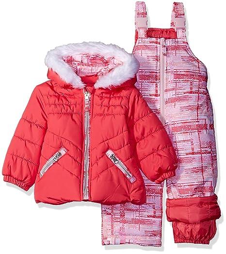 9df97fe73 Amazon.com  London Fog Baby Girls  Infant 2 Pc Heavyweight Snowsuit ...