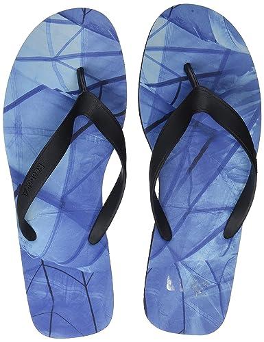 45614c9b8ca72 Reebok Men s Cash Flip Flops Multicolour (Black Acid Blue Blue  Lagoon Collegiat