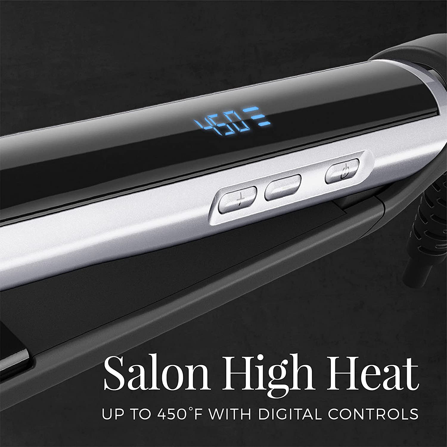 Ceramic Hair Straightener, Professional Flat Iron with Pearl Ceramic Technology - Black