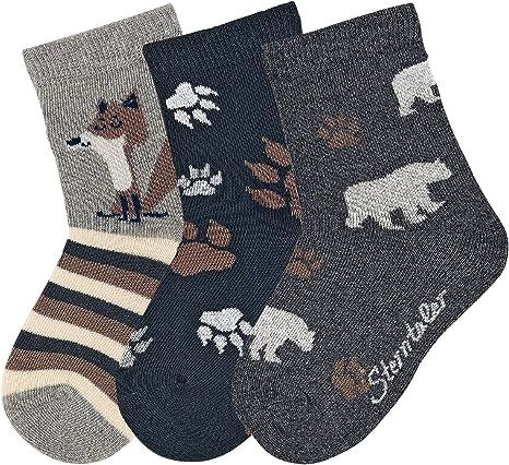 Sterntaler Jungen Socken S/öckchen 3er Pack Strandbaggy 542 silber melange 19-22 Fb Gr