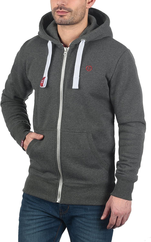 !Solid BennZip Herren Sweatjacke Kapuzenjacke Hoodie mit Kapuze und Reißverschluss Med Grey (8254)