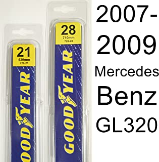 "product image for Mercedes Benz GL320 (2007-2009) Wiper Blade Kit - Set Includes 28"" (Driver Side), 21"" (Passenger Side) (2 Blades Total)"